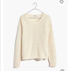NWT Madewell Open Stitch Austen Pullover Sweater
